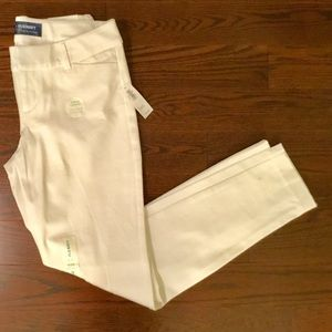 Old Navy White Cropped Pants